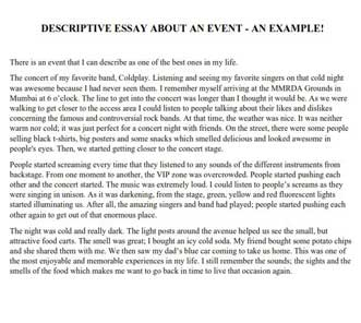 Descriptive Essay Help | Original Papers from Vetted Experts | blogger.com